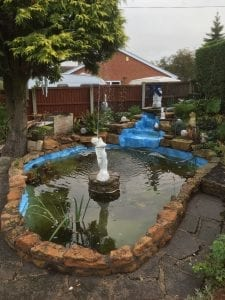 Fibreglass Pond with Fountain