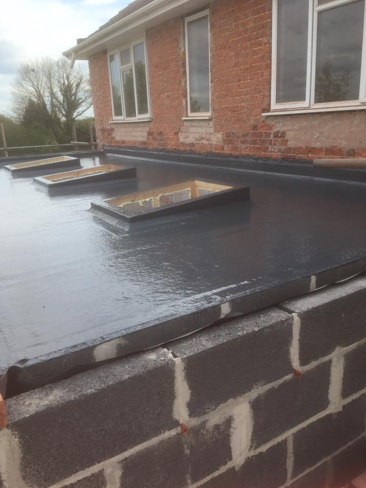 What A Brand New Fibreglass Roof Installation Looks Like